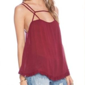 Free People Strappy Lace Tank